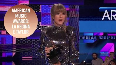 American Music Awards: Taylor Swift sale in cima (e scende in politica)