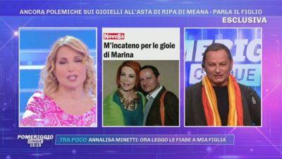 Ancora polemiche sui gioielli all'asta di Marina Ripa di Meana - Parla il figlio