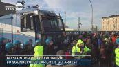 Gli scontri al porto di Trieste