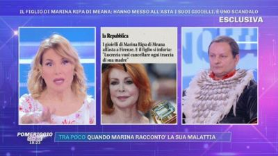 I gioielli di Marina Ripa di Meana all'asta - La rabbia del figlio Andrea