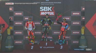 Il podio di Gara 2