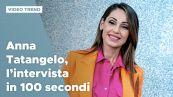Anna Tatangelo, l'intervista in 100 secondi