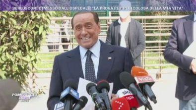 Berlusconi dimesso dall'ospedale: ''La prova più pericolosa della mia vita''