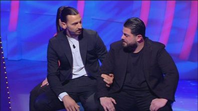 Zlatan Ibrahimovic incontra Francesco