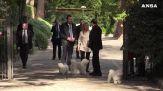 Berlusconi riceve Meloni e Salvini a Villa Grande. C'e' anche Dudu