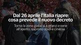 Dal 26 aprile l'Italia riapre: cosa prevede il nuovo decreto