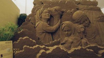 Il presepe di sabbia a Jesolo