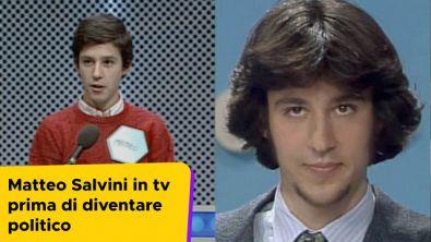 Matteo Salvini in tv prima di diventare politico