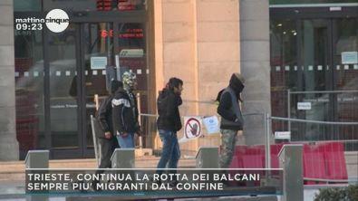 Trieste, continua la rotta dei balcani