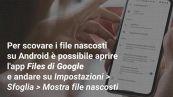 Come trovare i file nascosti su iPhone e Android