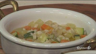 Minestrone di verdure e riso