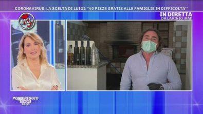 Coronavirus: Luigi ristoratore dal cuore grande che regala pizze ai bisognosi