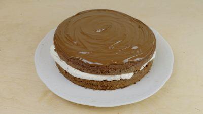 Ricetta della torta panna e nutella