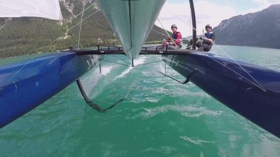 Sfrecciando sul lago di Achensee