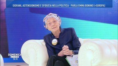 Emma Bonino in vista delle prossime elezioni politiche