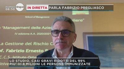 Fabrizio Pregliasco e il calo dei contagi