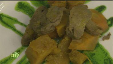 Spiedini di tofu e stufato di seitan