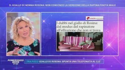 Il giallo di Nonna Rosina: non convince la versione della rapina finita male
