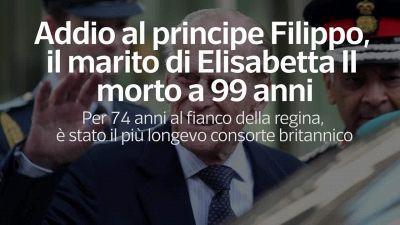 Addio al principe Flippo, il marito di Elisabetta II morto a 99 anni