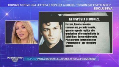 Iconize scrive una lettera e replica a Soleil: ''Tu non sai i fatti miei''