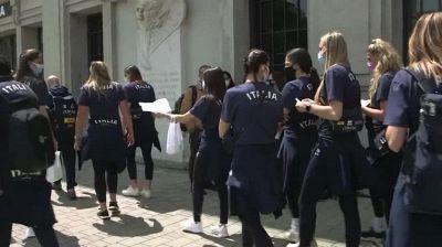 Tokyo: la nazionale azzurra di Volley si vaccina a Milano