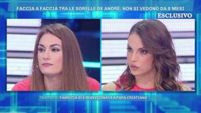 Faccia a faccia tra le sorelle De Andrè