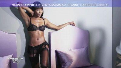 Naomi Campbell mamma a 50 anni