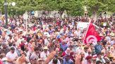 Tunisia, proteste in piazza contro il presidente Saied