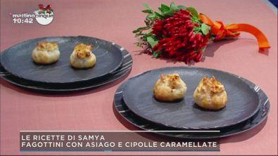 Fagottini con Asiago e cipolle caramellate