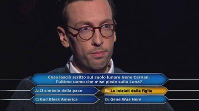 Enrico Remigio, giovane manager, affronta la fatidica domanda da 1 milione di euro!