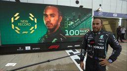 F1 Gp Russia 2021: Hamilton fa 100 sotto la pioggia. Podio Ferrari