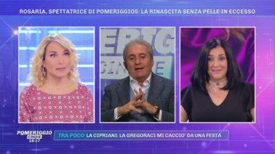 Rosaria, spettatrice di Pomewriggio5: la rinascita senza pelle in eccesso