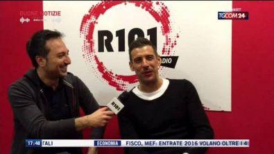 Francesco Gabbani negli studi di R101