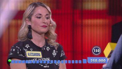 Alessandra affronta il gioco finale