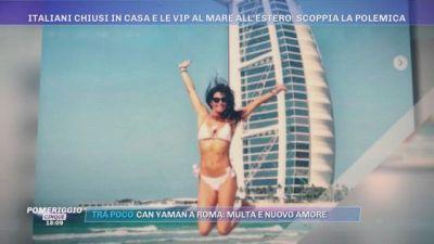 Italiani chiusi in casa e Vip al mare all'estero