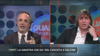La sinistra che dà del fascista a Salvini