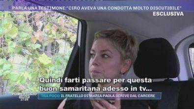 Morte Maria Paola Gaglione, una testimone: ''Ciro aveva una condotta molto discutibile
