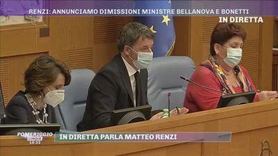 Matteo Renzi: ''Nessuna pregiudiziale sui nomi ma non Governo con la destra''