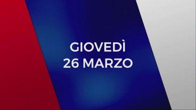 Stasera in Tv sulle reti Mediaset, 26 marzo