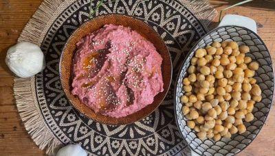 Hummus Rosa Senza Glutine e Vegan