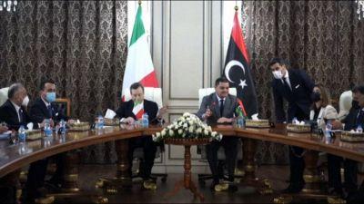 Libia, Mario Draghi è arrivato a Tripoli con Di Maio