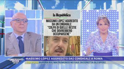 Massimo Lopez aggredito dai cinghiali a Roma