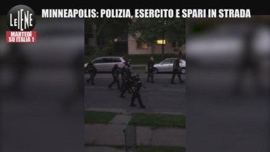 Minneapolis, polizia in strada e spari contro le case: video choc