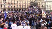 Scudetto Inter, in piazza Duomo assembramenti di tifosi per festeggiare