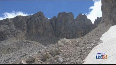 Abruzzo, il grande ghiacciaio che scompare