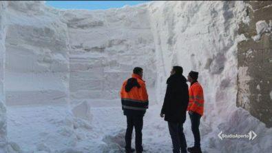 Muri di neve fino a 21 metri