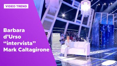 "Barbara d'Urso ""intervista"" Mark Caltagirone"