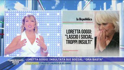 Loretta Goggi insultata sui social