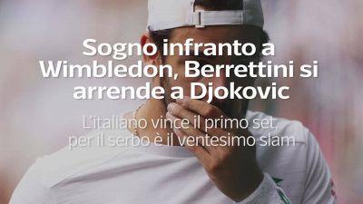 Sogno infranto a Wimbledon, Berrettini si arrende a Djokovic