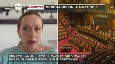 Giorgia Meloni sui vitalizi